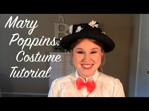 Mary Poppins Halloween Costume Hat Mary Poppins Costume Tutorial