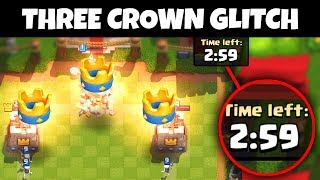 YOU can THREE CROWN ANYONE in 1 SECOND with THIS GLITCH!! | Clash Royale