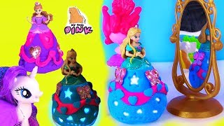 Dress Up Одевалки из Плей До Play Doh Disney Princess Dress Игры для Девочек + Пони MLP Rarity