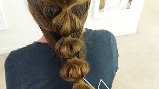 Easy 5 Minute Hairstyles - How to Do a Bubble Braid - Beginner Hairstyle