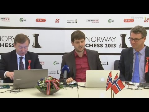 Peter Svidler Press Conference Norway Chess 2013