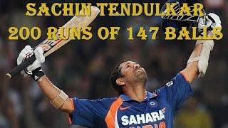 Sachin Tendulkar 200 Runs of 147 Balls Not Out India vs South Africa