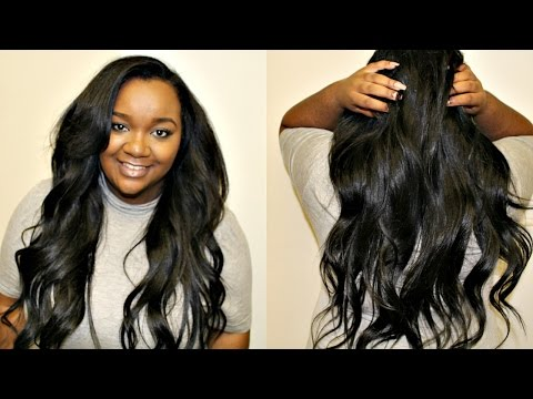 Romantic Soft Valentine's Day Curls + WowAfrican Hair Review  Yaki Straight