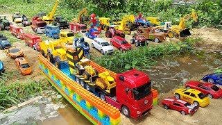Build Bridge Blocks Toys For Kids, Construction Vehicles Toy for Children | Vic Vic