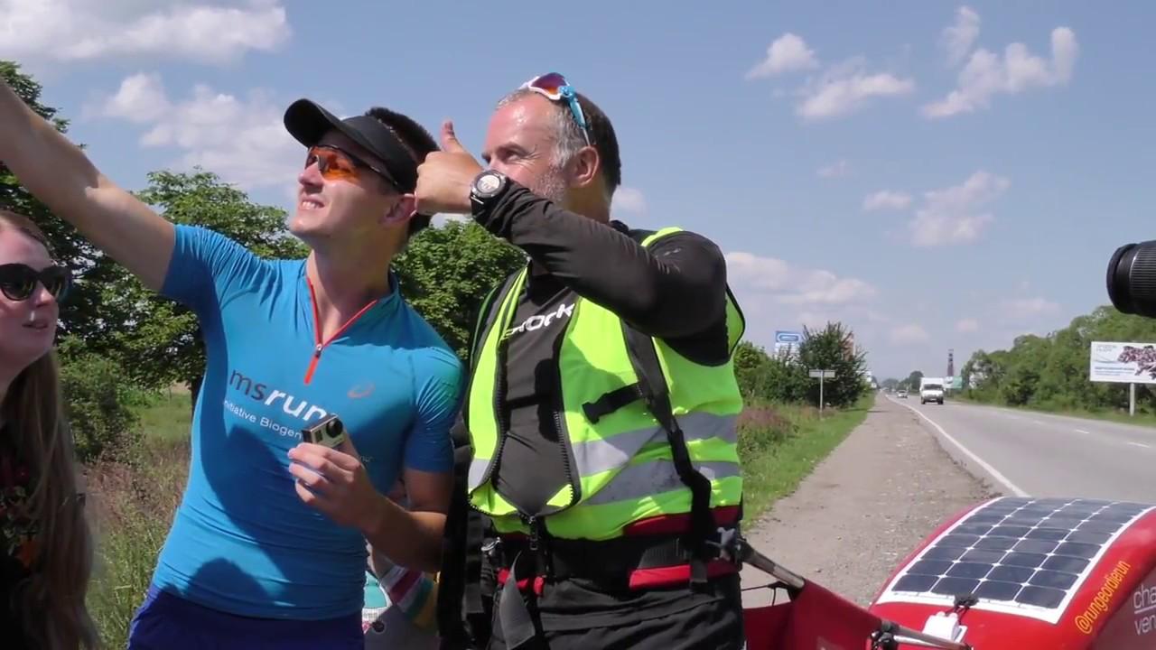 Як Калуш приймав Марка Еллісона з Великобританії, який біжить заради порятунку онкохворих