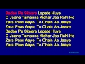 Badan Pe Sitaare Lapete Huye   Mohammed Rafi Hindi Full Karaoke With Lyrics