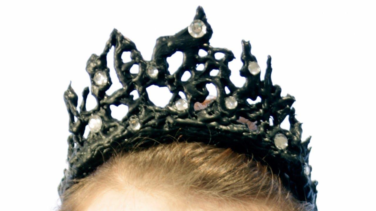 Diy Black Swan Crown Youtube