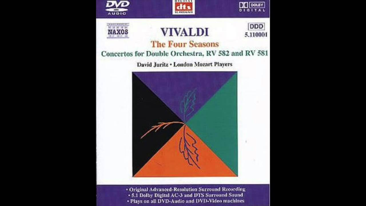 Four Seasons Rv >> Antonio Vivaldi - Concerto in C major for Violin and Double Orchestra, RV 581 I. Adagio e stacc ...
