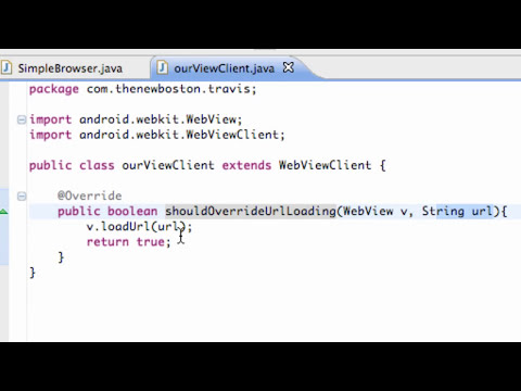 Android Application Development Tutorial - 91 - Set WebView Client for a Brower app