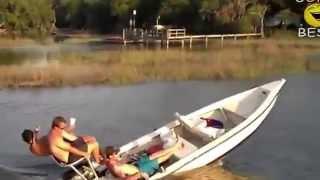 приколы на воде видео с лодками
