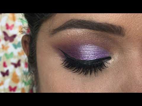 #Diwalog Day 8 - Half Purple and Lavender Cut Crease in हिनदी | Diwali 2018
