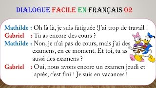 Dialogue facile en français 2