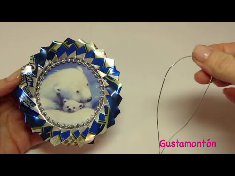 DIY: Adornos hechos con latas. Ornaments made ​​with soda cans.
