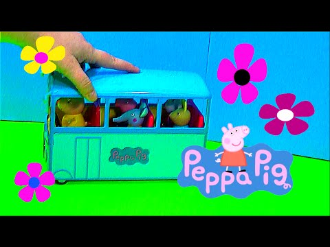 Peppa Pig Bus Toy Review!