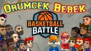 Örümcek Bebek Tablette Basketbol Oyunu Oynuyor Örümcek Bebeğin Oyun Kanalı