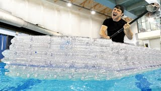 I Made An Entire Boat With Recycled Water Bottles!!