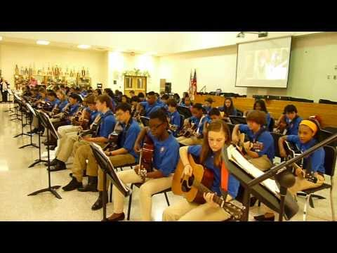 Trickum Middle School Guitar Class Covers Katy Perry Roar - Educational Cover Song