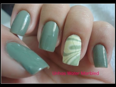 Unhas Water Marbled (passo-a-passo)