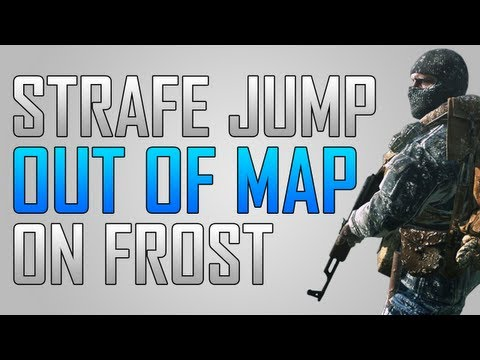Black Ops 2 Glitches: Strafe Jump Out of Map Glitch on Frost