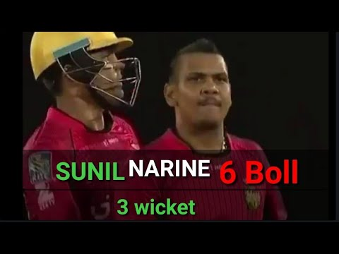 Sunil Narine magic 6 Boll  3 wicket FULL highlight Match | CPL Live 2018