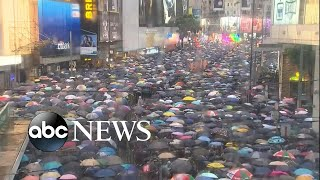 Hong Kong protest continues, regardless of weather conditions