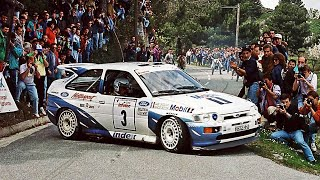 Ford Escort RS Cosworth - with pure engine sounds (WRC Tour de Corse 1993)