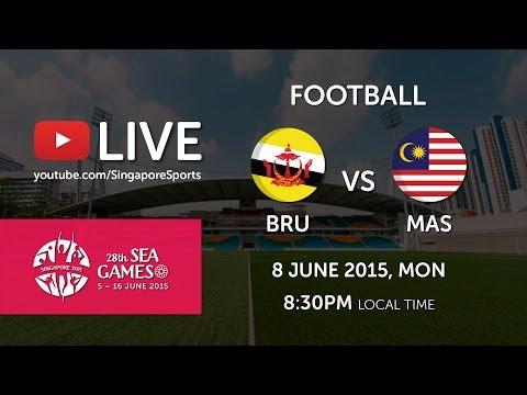 Football Brunei vs Malaysia (Bishan Stadium Day 3) | 28th SEA Games Singapore 2015