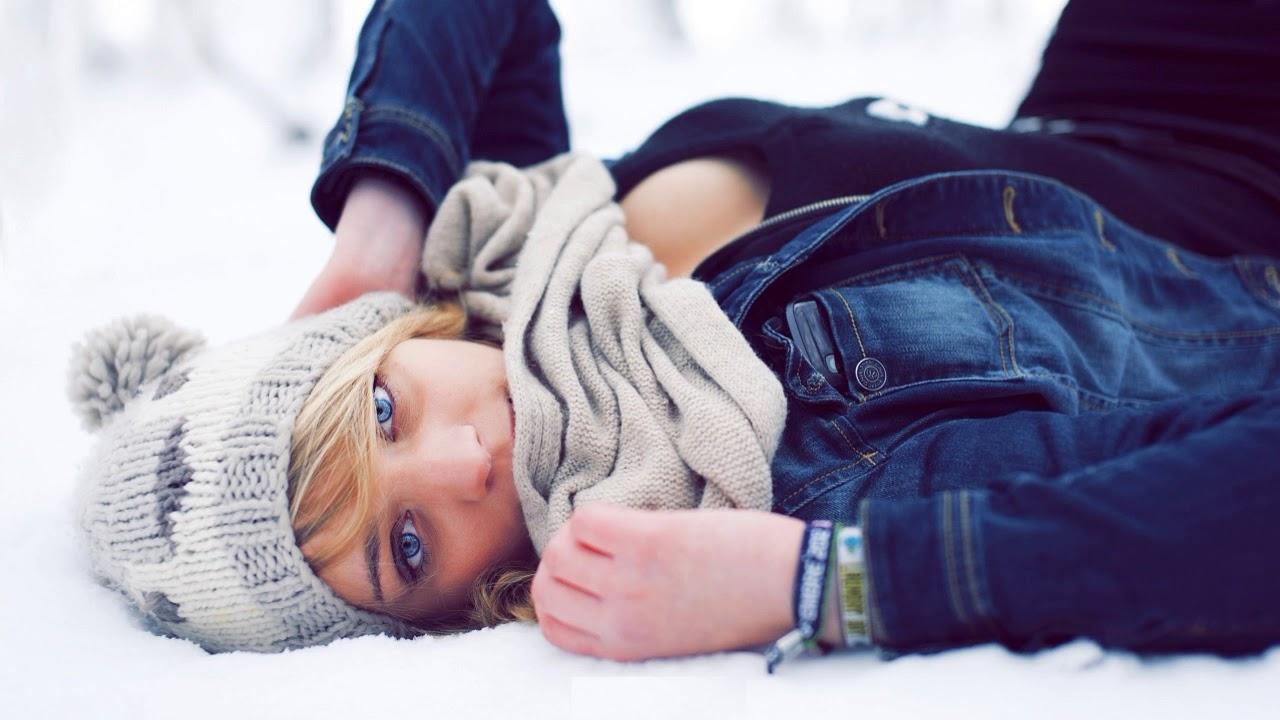 Фото красивых блондинок на аву зимой с