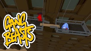Gang Beasts - Jumping Signs and Breaking Cables [Father Vs. Son] - Battle 13
