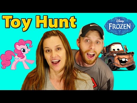 New Toy Hunting Easter Toys My Little Pony Disney Cars Shopkins Frozen Superheroes Candy Eggs video