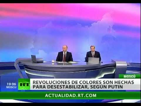 Putin habla sobre las revoluciones, el