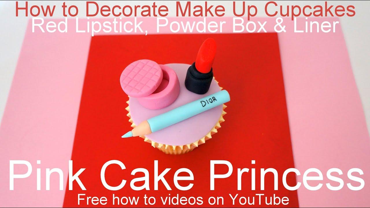 How to Make Edible Cosmetics Cupcakes (4) - YouTube