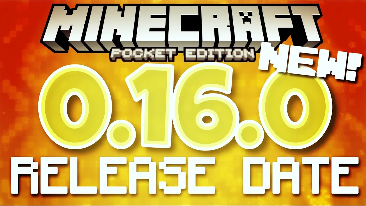 ✔️RELEASE DATE!! - Minecraft PE 0.16.0   Official MCPE 0.16.0 release date! [MC 0.16.0 release date]
