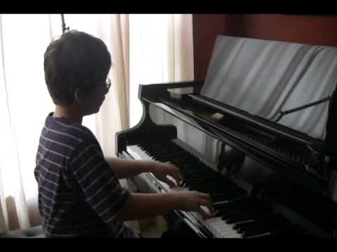 Simon Plays Mozart Sonata K.283 in G Major First Movement Video