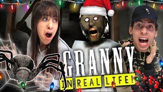 Granny Horror Game In Real Life Christmas Edition With Pet Spider Update