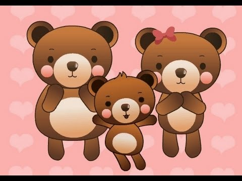 Muffin Songs - Three Bears   | nursery rhymes & children songs with lyrics |