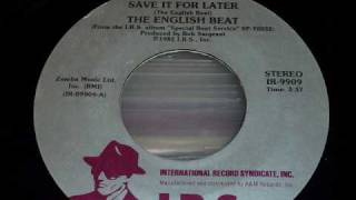 The English Beat - Save It For Later 45rpm