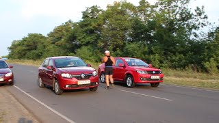 Заезды на 402 метра Kia, Geely, Renault / Arrivals at 402 meters Kia, Geely, Renault
