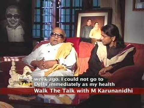 Walk the Talk: M Karunanidhi