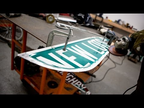 Art of War: Artist Turns Brooklyn Street Signs Into Post-Apocalyptic Weapons