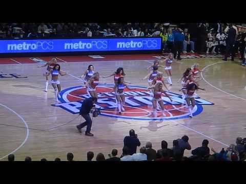 Detroit Pistons Dancers 4-7-13 vs Chicago Bulls time out dance shaylarayann