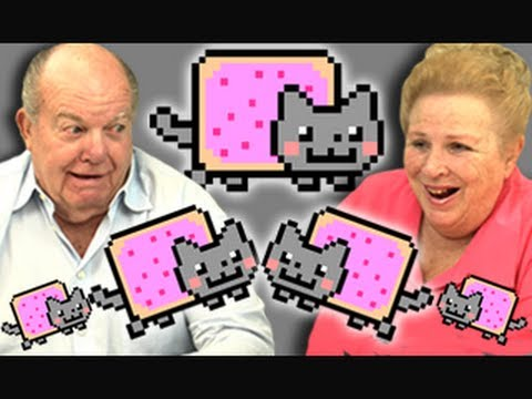 ELDERS REACT TO NYAN CAT Music Videos