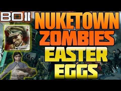 BO2 Nuketown Zombies All Easter Eggs Explained + Moon Map Secret Black Ops 2 | Chaos