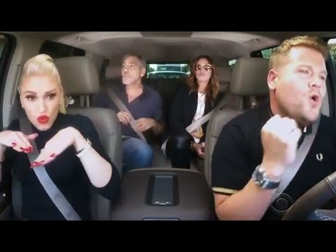 Gwen Stefani SLAYS Carpool Karaoke With James Corden, George Clooney & Julia Roberts