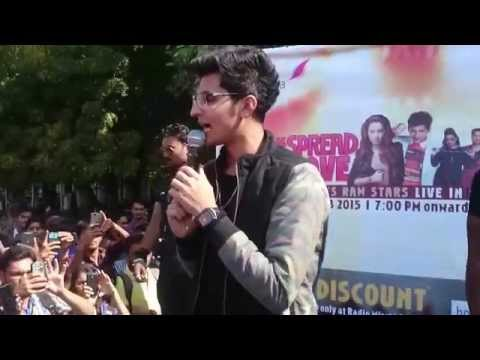 Darshan Raval in LJ Campus for Promoting his show in YMCA