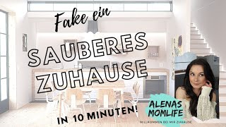 Fake a clean Home under 10 Minutes! / Ein sauberes Zuhause faken unter 10 Minuten!