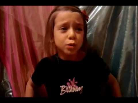 7 yr old Ruby-Arica sings
