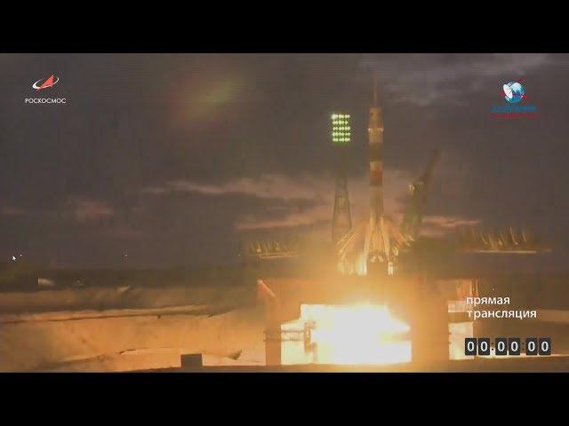 Трансляция пуска РКН «Союз-ФГ» с пилотируемым кораблём «Союз МС-15»