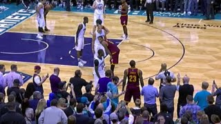 NBA Fan gets ejected because he touched LeBron James