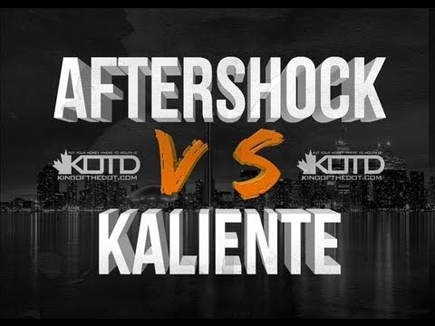 KOTD - Rap Battle - Aftershock vs Kaliente